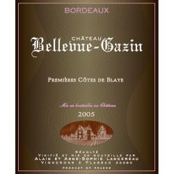 Chateau Bellevue-Gazin rouge Mil 2005 élevé en fûts de chêne